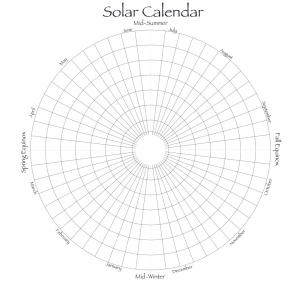 Solar Calendar of months